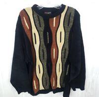 Bergati Men's Sz L Pullover Sweater Crewneck Cosby 90s Coogie Style