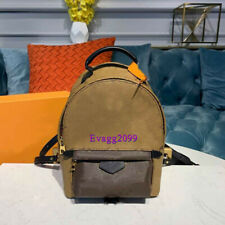 Women Print Canvas+Leather Fashion backpack Bag Top Quality 2020 New light Brown