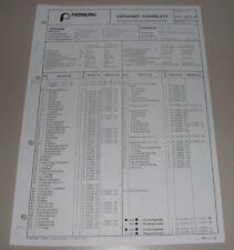 Pierburg Vergaser 36 - 1 B 3 Kennblatt Ersatzteilliste Audi 80 Typ 81 ab 09/79!