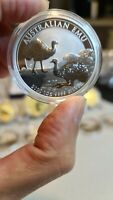 2020💥🦙 1 OZ EMU SILVER BU 99.99% COIN/💯FAST AND SECURE DELIVERY FROM PERTH