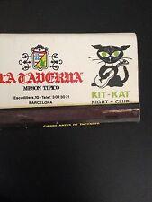 Match Cover Kit Kat Night Club Barcelona
