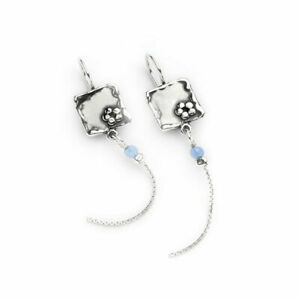 Hand Made Aviv Jewellery Sterling Silver Opal Earring ASE092