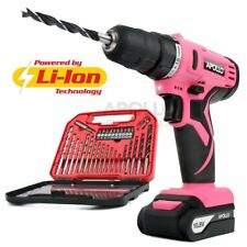 Apollo Pink 10.8V Cordless Drill Driver with 1500 mAh Lithium-Ion Battery 19 ...
