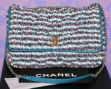 Chanel 17C Cuba MAXI Flap *FANTASY TWEED* Bubble Quilted Chesterfield Bag RARE!!