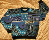 Men's Vintage 1980's McGregor Grandpa ~ Ugly Sweater w/ Geometric Arcade (L/XL)