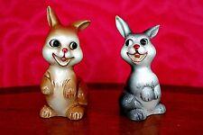 Vintage Novelty German 'Goebel' Porcelain Salt & Pepper Bunnies Figurines