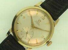 Vintage 1940s Omega 14K Gold Sub-Seconds Dial Watch