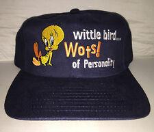 Vtg Tweety Bird Strapback hat cap rare 90s Looney Tunes warner bros cartoon NWOT