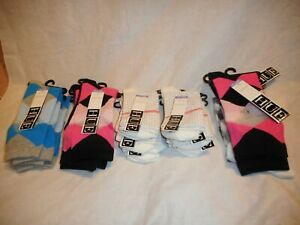 N/W/T 3 pairs Hue Woman's  Multi color Socks Sold Together SIZE O/S