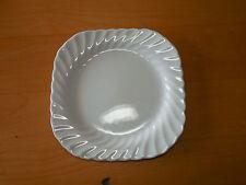 Johnson Bros England REGENCY Set of 3 Square Salad Plates 7 5/8 White Swirl