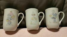 Lot of 3 Vintage 1984 Enesco Precious Moments Clown Porcelain Coffee Tea Mug Cup