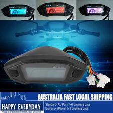 Motorbike Digital LCD Speedometer Odometer Tachometer Speed Sensor 7 Colors AU