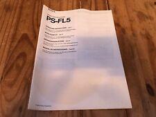 RARE Original Sony Turntable PS-FL5 Operating Instructions Manual