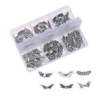 60pc Schmetterling Engelsflügel Deko Bastel Zubehör Metall Perlen Schmuck DIY