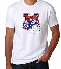 SULTANES DE MONTERREY Baseball Men's T-shirt Crew Neck 100% Cotton