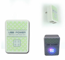 50PCS USB 4 PORTS WALL ADAPTER POWER CHARGER FOR LG G2 OPTIMUS G PRO KINDLE FIRE