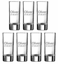 Personalised Engraved Shot Glass Birthday Gift Idea Stag Hen Night Party by Jevg