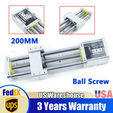 Cnc Electric Xyz Axis Sliding Table Linear Rail Stage Ball Screw 16mm 200mm Usa