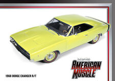 1968 Dodge Charger R/T Light Yellow 1:18 Auto World 972