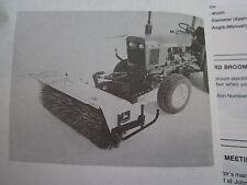 JOHN DEERE 650 & 750 LAWN TRACTOR 246 ROTARY BROOM OPERATORS MANUAL