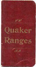 Vintage Company Customer Premium from Quaker Ranges, Memo Book