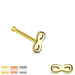 20g (0.8mm) Infinity Top 316L Surgical Steel Nose Stud / Bone