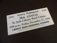Set of Three 1996 St. Jude Liberty Bowl Classic Parking Passes (#6T197)
