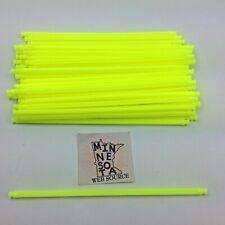 "Knex Neon Yellow 7.5"" Flexi Rods - Standard K'nex Coaster Parts - Lot of 50"