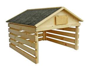 Holz-Garage für Rasenroboter Mähroboter Rasenmäher Haus Unterstand Überdachung