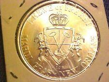 MARDI GRAS Krewe of Freret Americana 1973 Silvertone Doubloon Token Coin G319