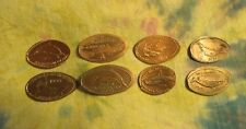 Elongated Unique Pennies New/Old/-lot of 8 Whales/Sharks/dolphins