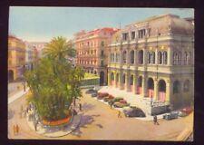 Alger L'Opera et la Place de la Republique Vintage Unused Postcard