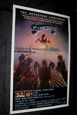 "Original PRINTER'S DEFECT-TEST PRINT? 27"" X 41"" SUPERMAN II ROLLED! Twin Towers"
