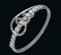 925 ECHT SILBER RHODINIERT *** Zirkonia Ring , Größenauswahl