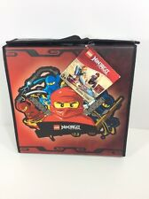 LEGO Ninjago Masters of Spinjitzu Spinner Tops Battle Arena Case Mini Figs