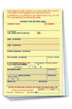 Vehicle Deal Label Plain Blank Car Lot Dealership Supplies Form Aa-168