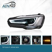 Pair LED DRL Halogen HEADLIGHT fits Mitsubishi LANCER EXO X 08-17  Dual Beam