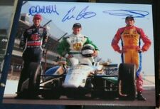 M Andretti E Carpenter C Munoz Indianapolis 500 Racing SIGNED 8X10 Photo COA