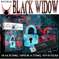 BLACK WIDOW BUGTRAQ 32GB USB Hacking,Sniffing,Brute Force,Password 500+ Tools