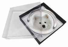 Samoyed Dog Glass Paperweight in Gift Box Christmas Present, AD-SO73PW