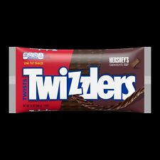 TWIZZLERS CHOCOLATE LICORICE HERSHEY'S FILLED TWISTS, 12 ounce bag,FAST Shipping