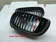 MIT M COLOR MATT BLACK KIDNEY GRILLE BMW E46 4D 3 SERIES 2002-2004