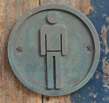 NEW, Hand Made Male Man, Mens Toilet, Bathroom Bronze Resin wall, plaque, sign.