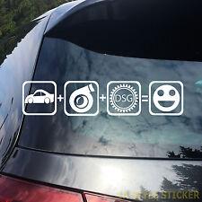 Auto Turbo DSG FUN Aufkleber DSG Sticker DSG Launch control mk tuning sticker