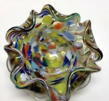 Vintage Glass Bowl Marble Style Maybe Old Murano