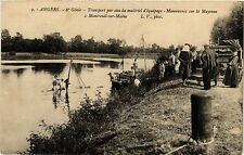 CPA  Angers - 6*Génie-ransport par eau du matériel d'équipage -Manceuvre(296654)