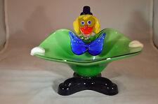 Murano Glass Clown Bowl - Green Bowl - Mid Century Modern