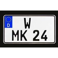 Kennzeichen EU Leichtkraftrad/Zugmaschinen lang, verkleinerte Mitte, 255x130mm