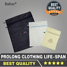 UK Set of 3 Luxury Quality Laundry Wash Washin Mesh Bags Zipper Travel Organizer