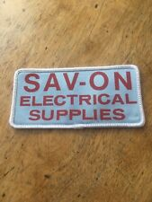 Vintage Sav-On Electrical Supplies Sew On Patch Electric Electricity Calgary AB